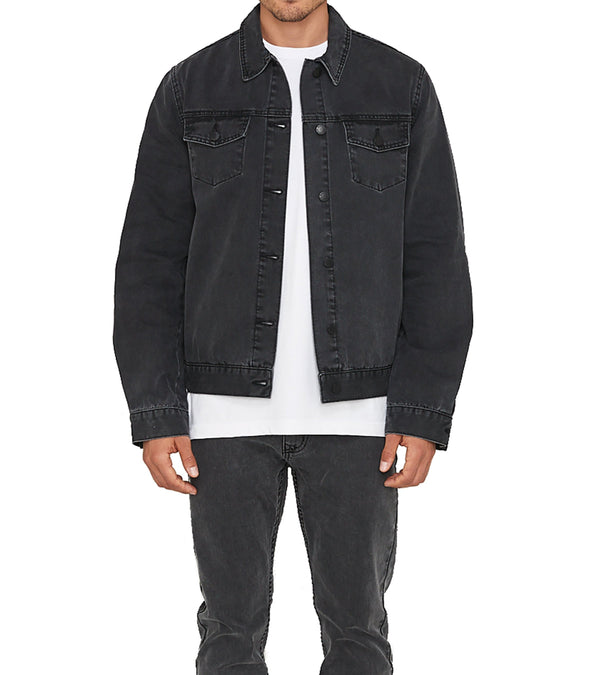 Method of Denim Jacket Rebel Yell Trucker Jacket - Washed Black