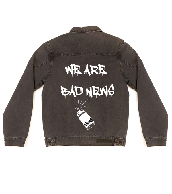 Method of Denim Jacket We Are Bad News - Custom Denim Jacket (3972262854742)