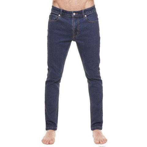 Method of Denim Mens Denim Jeans Whiskey Skinny Jeans - Indigo