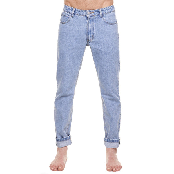 Method of Denim Mens Denim Straight Shooter Jeans - Light Blue