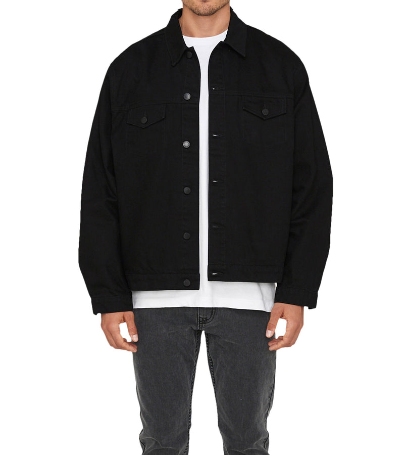 Method of Denim Mens Jackets Boiler Maker Jacket - Black (1973099855958)