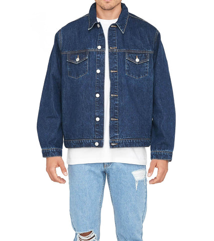 Method of Denim Mens Jackets Boiler Maker Jacket  - Indigo