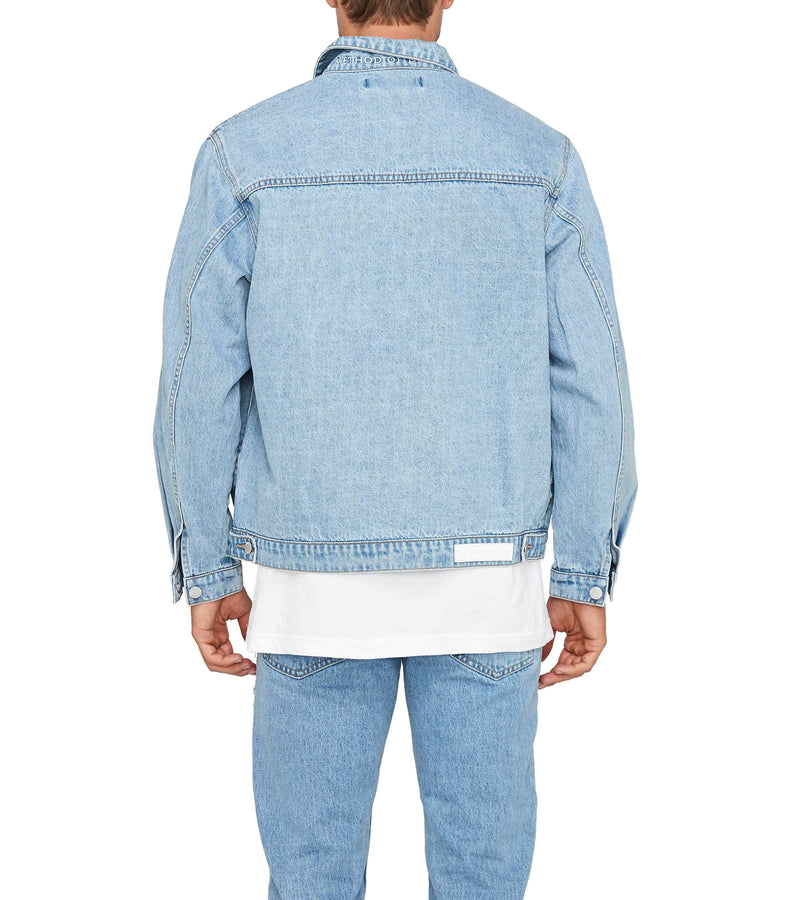 Method of Denim Mens Jackets Boiler Maker Jacket  - Light Blue (1328102637654)