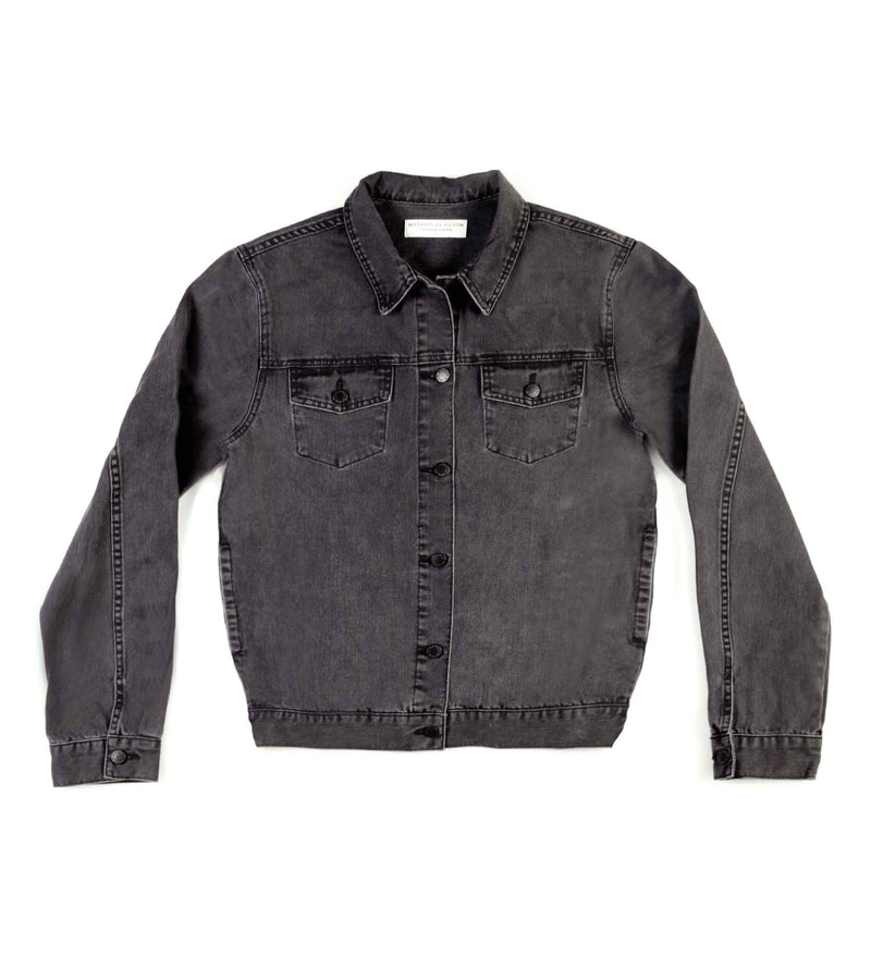 Method of Denim Mens Jackets Boiler Maker Jacket - Washed Black (1328102604886)