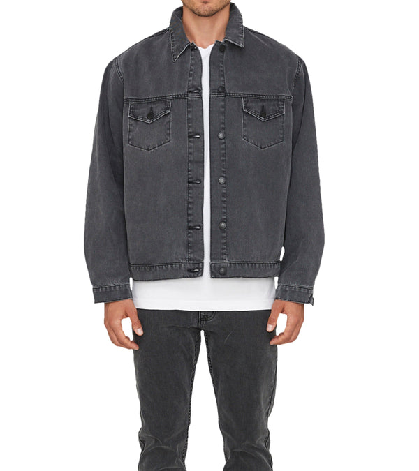 Method of Denim Mens Jackets Boiler Maker Jacket - Washed Black