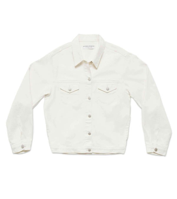 Method of Denim Mens Jackets Boiler Maker Vintage Jacket - White