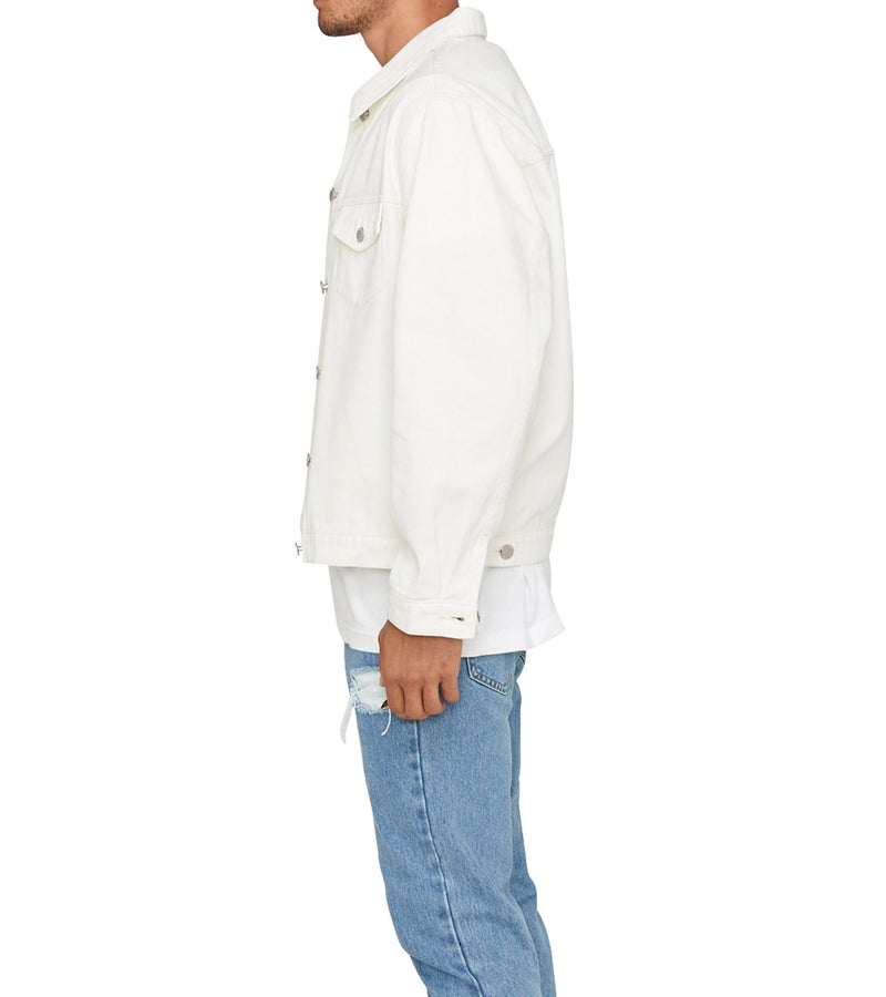 Method of Denim Mens Jackets Boiler Maker Vintage Jacket - White (1999722152022)
