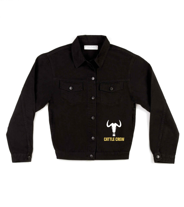 Method of Denim Mens Jackets Cattle Crew Jacket