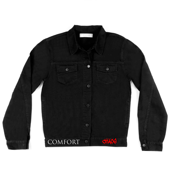 Method of Denim Mens Jackets Comfort In Chaos - Custom Denim Jacket