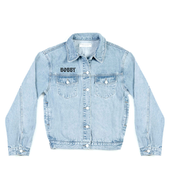 Method of Denim Mens Jackets Fear For Sale Denim Jacket (4563289636950)