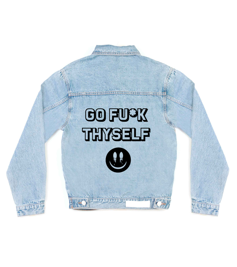Method of Denim Mens Jackets Go Fu*k Thyself Denim Jacket (4557433274454)