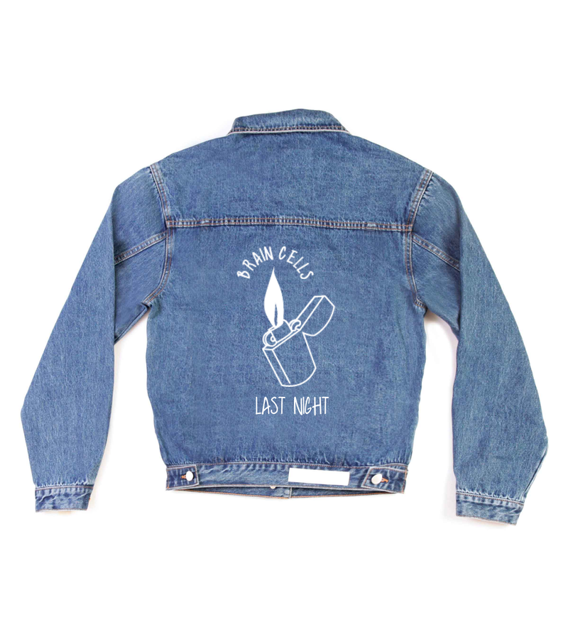 Method of Denim Mens Jackets Last Night - Custom Denim Jacket