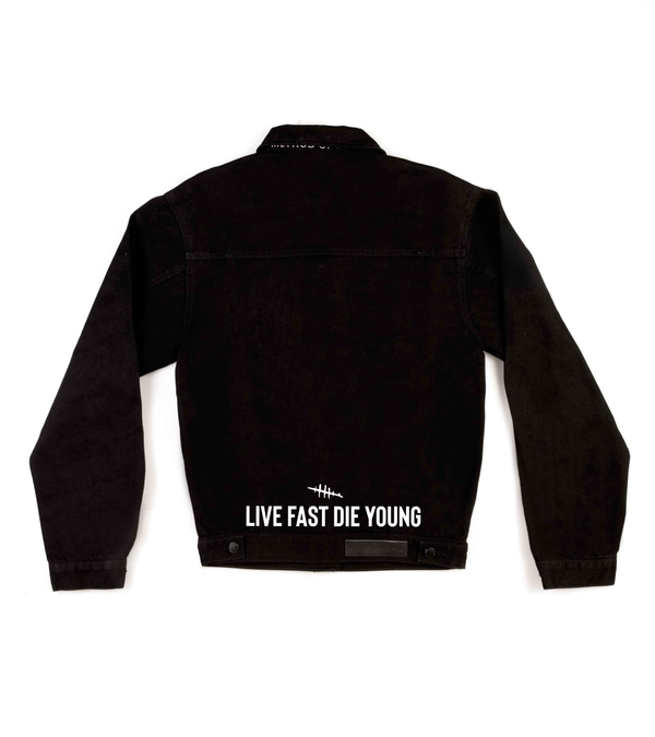 Method of Denim Mens Jackets Live Fast Die Young Denim Jacket (4559613952086)
