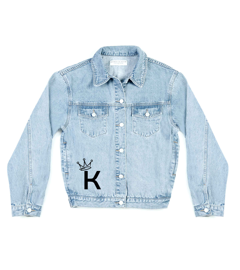 Method of Denim Mens Jackets Monogram Denim Jacket (4564860698710)