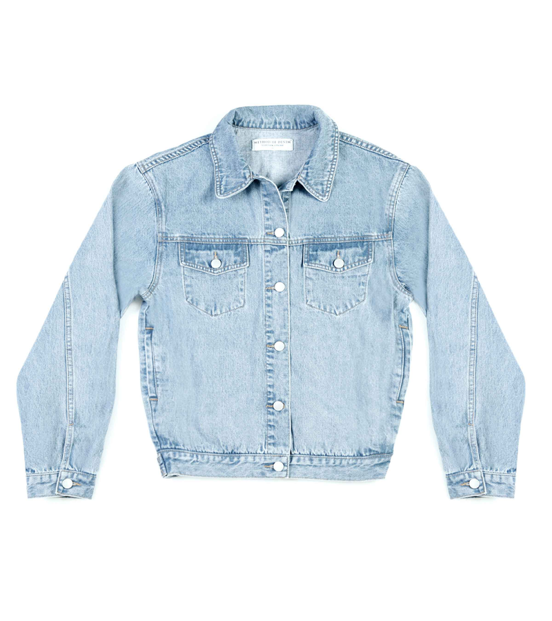 Method of Denim Mens Jackets Monogram Denim Jacket (4564863582294)