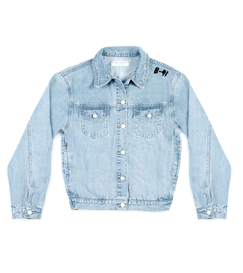 Method of Denim Mens Jackets Monogram Denim Jacket (4564869513302)