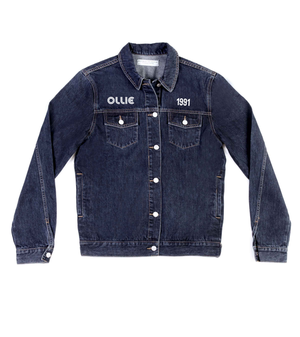 Method of Denim Mens Jackets Monogram Denim Jacket (4567111696470)