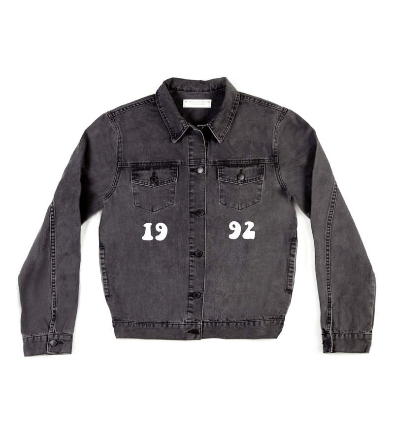 Method of Denim Mens Jackets Monogram Denim Jacket (4567420239958)