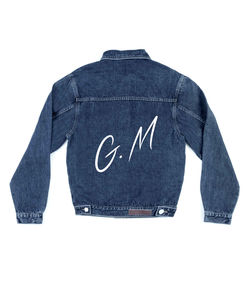 Method of Denim Mens Jackets Monogram Denim Jacket (4567429316694)