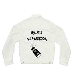 MY ART MY FREEDOM - CUSTOM DENIM JACKET (3970908586070)