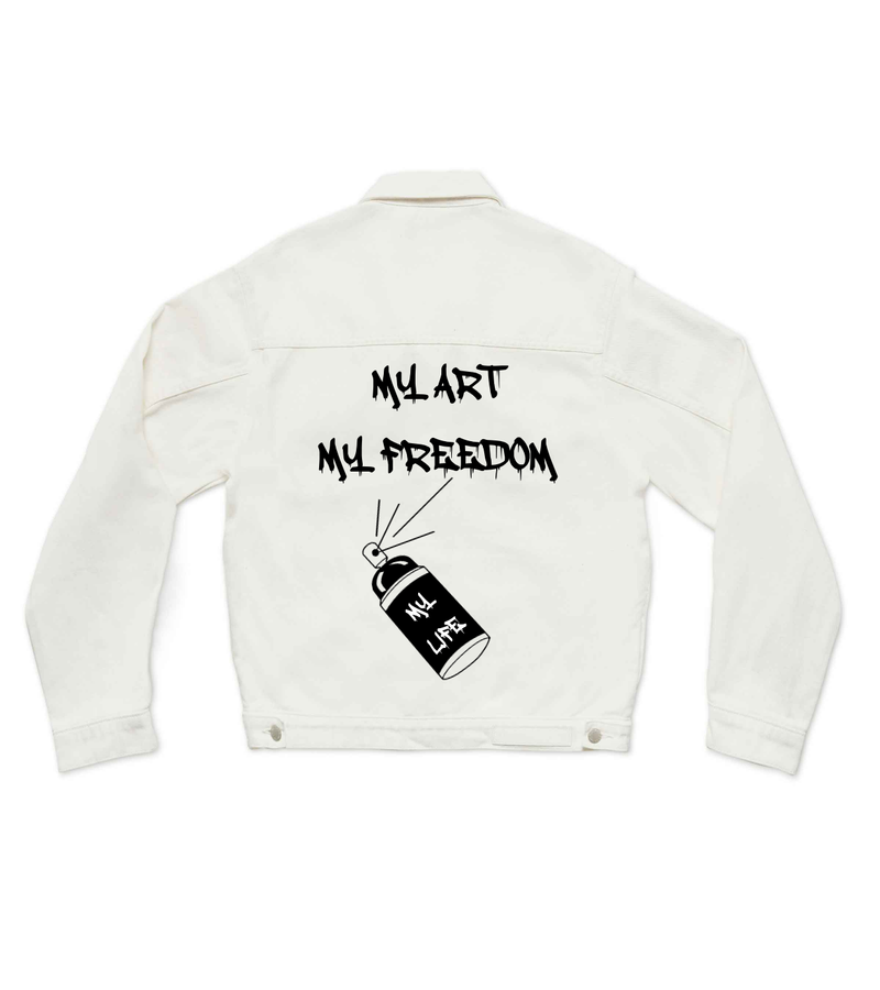 MY ART MY FREEDOM - CUSTOM DENIM JACKET