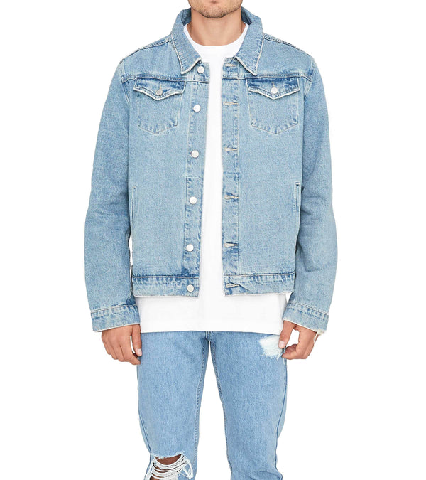 Method of Denim Mens Jackets Poison Vintage Denim Jacket - Light Blue (1380942217302)