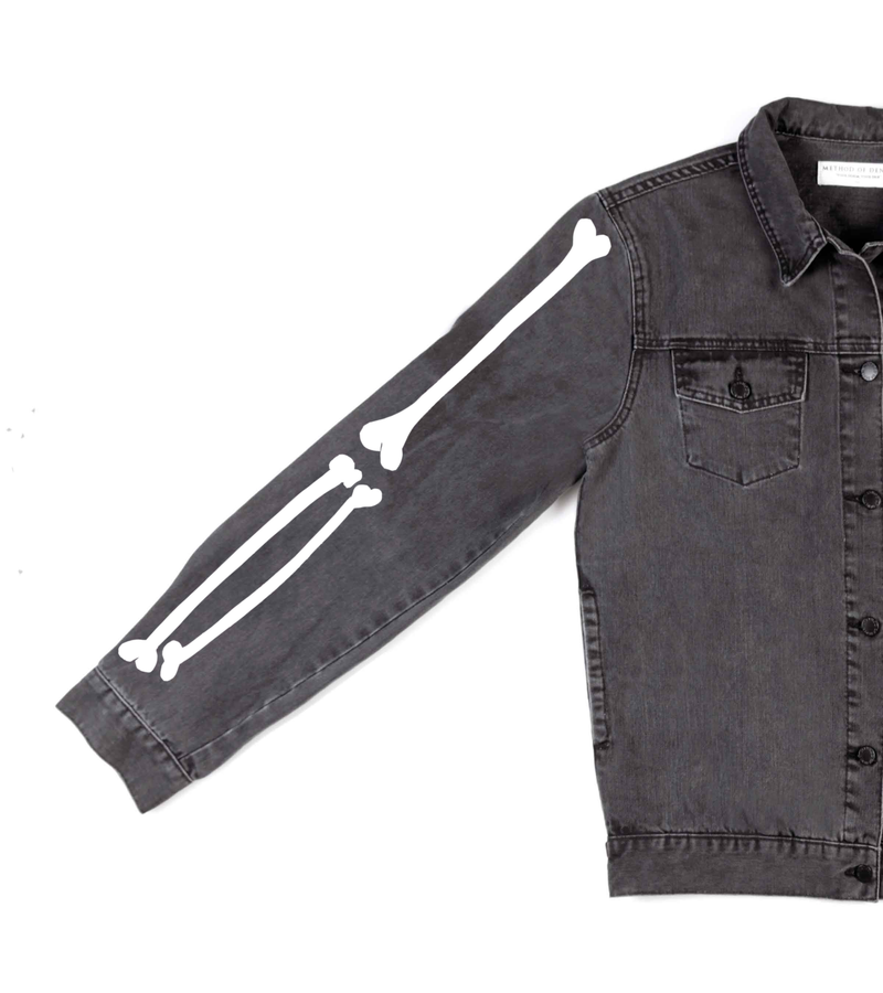 Method of Denim Mens Jackets Pretty Cool Skull Jacket