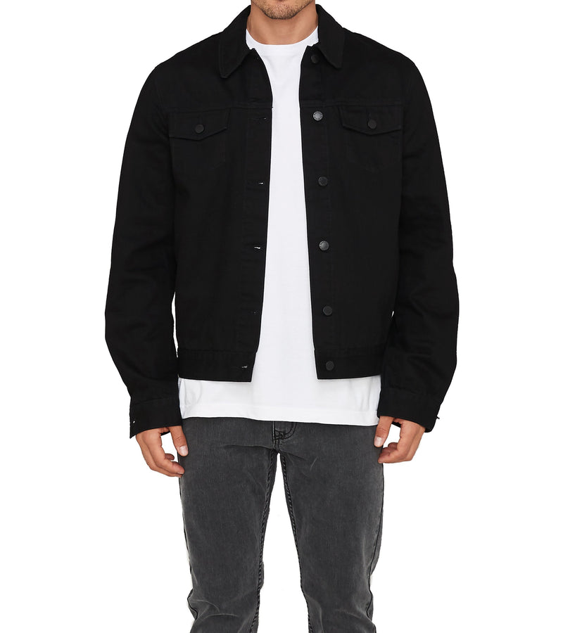 Method of Denim Mens Jackets Rebel Yell Trucker Jacket - Black (1328102473814)