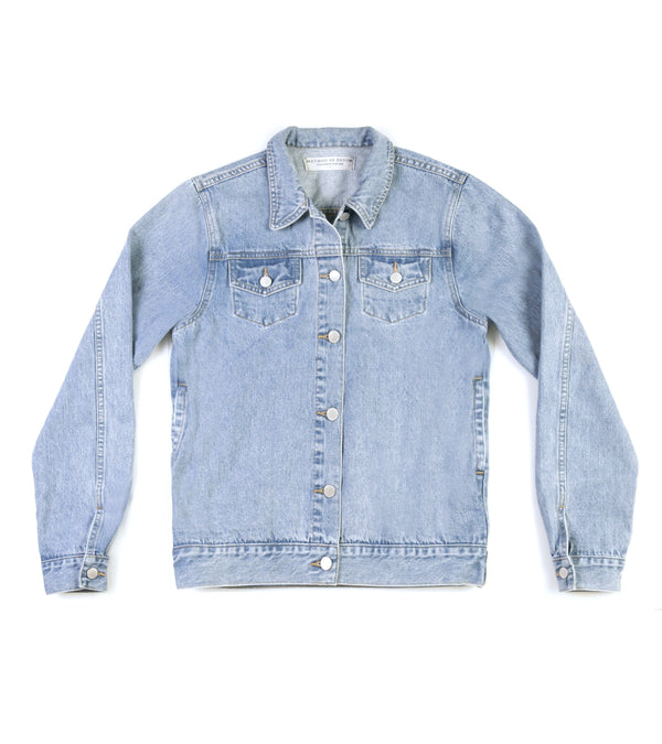 Method of Denim Mens Jackets Rebel Yell Trucker Jacket - Light Blue (1328102572118)