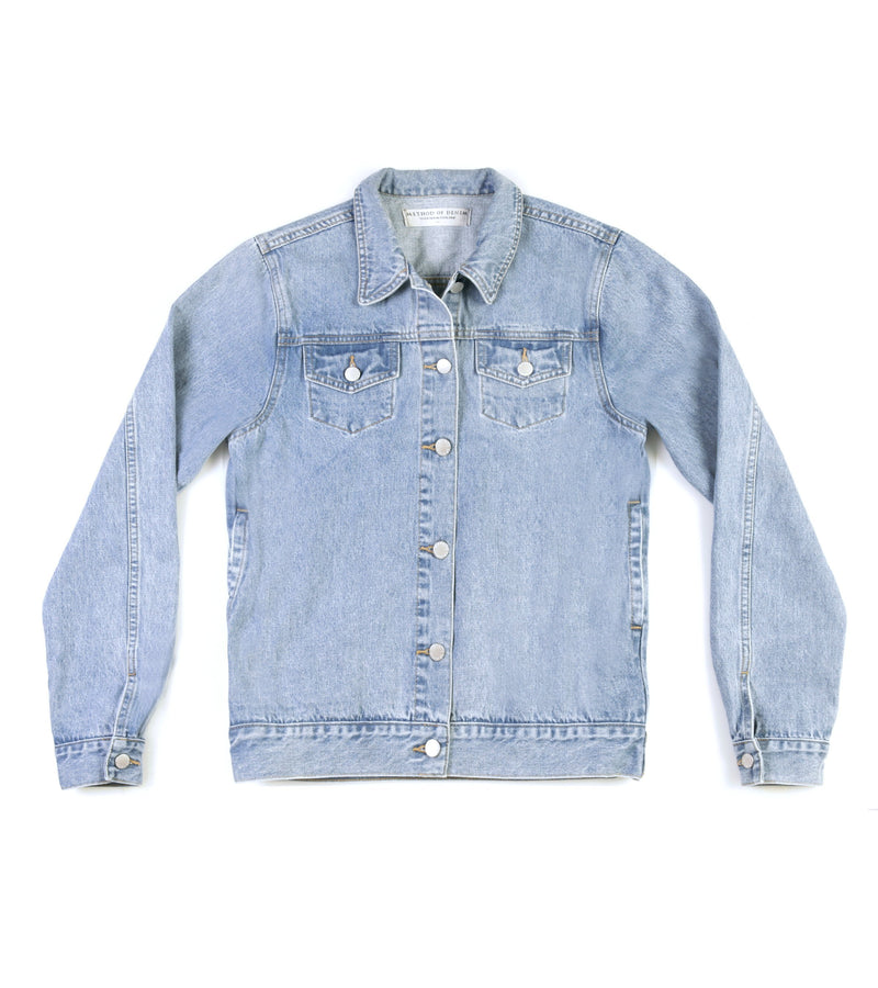 Method of Denim Mens Jackets Rebel Yell Trucker Jacket - Light Blue