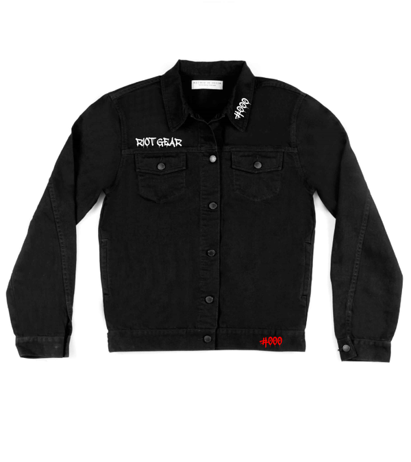 Method of Denim Mens Jackets Riot Gear - Custom Denim Jacket