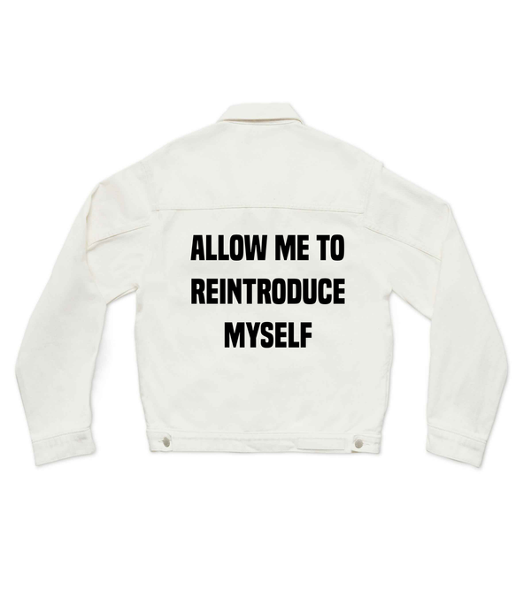 allow me to reintroduce myself - Custom Denim Jacket (3970906947670)