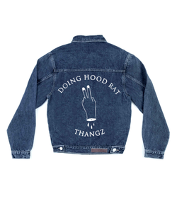 Method of Denim Our Designs Jackets (Mens) Doing Hood Rat Thangz 2 - Custom Denim Jacket (3970922741846)
