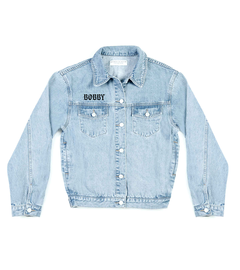 Method of Denim Our Designs Jackets (Mens) Fear For Sale Denim Jacket (4563287933014)