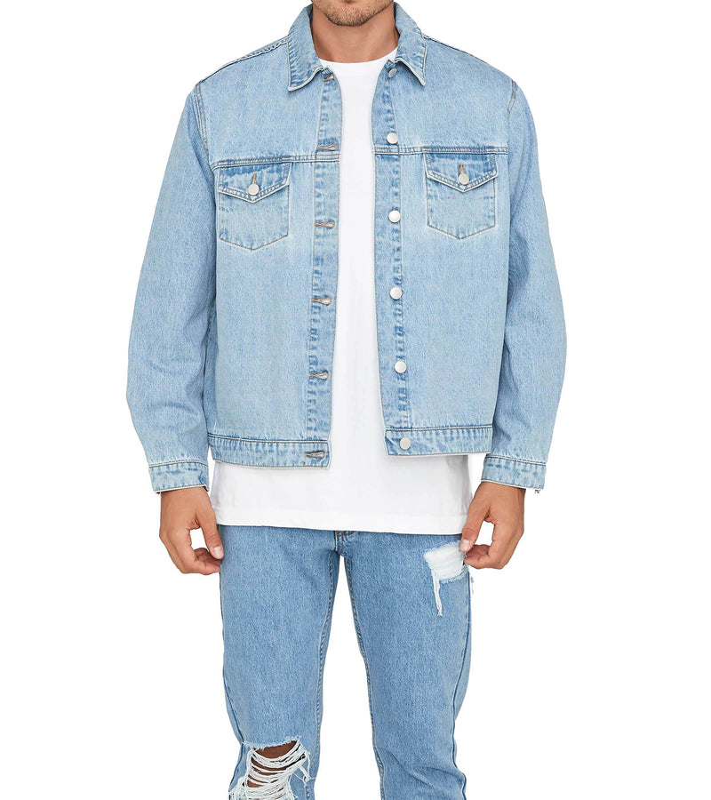 Method of Denim Our Designs Jackets (Mens) Monogram Denim Jacket (4564869513302)