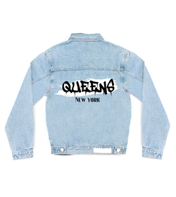 Method of Denim Our Designs Jackets (Mens) My City Queens Denim Jacket (4559381758038)