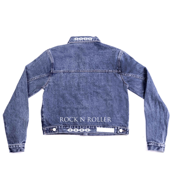 Method of Denim Our Designs Jackets (women) ROCK N ROLLER - CUSTOM DENIM JACKET (3970904686678)