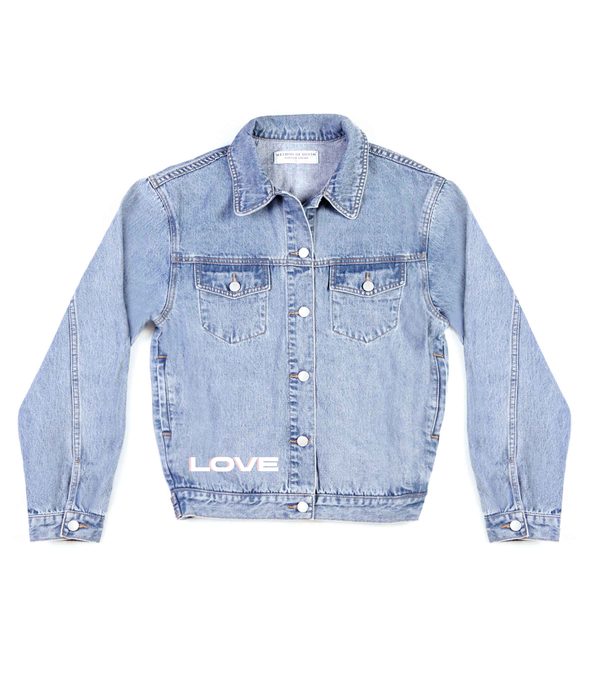 Method of Denim Womens Jackets 'All We Need' Denim Jacket (4610079293526)