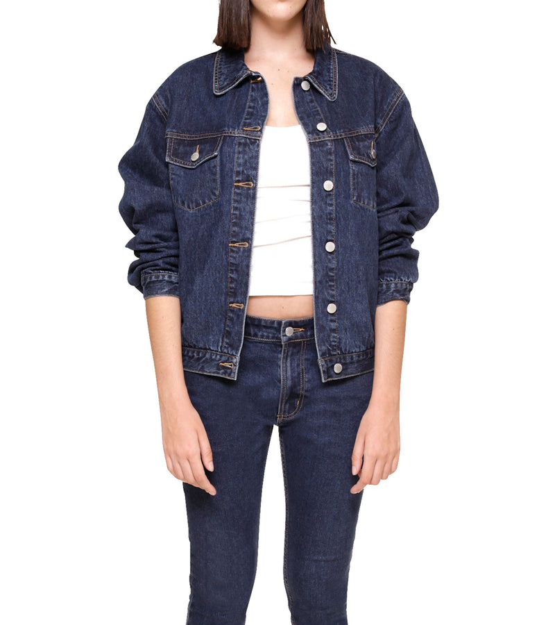 Method of Denim Womens Jackets Bleeding Heart - Custom Denim Jacket (3970949644374)