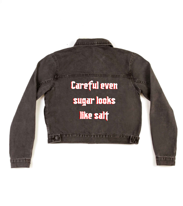 Method of Denim Womens Jackets 'Careful Sugar' Denim Jacket (4602380779606)