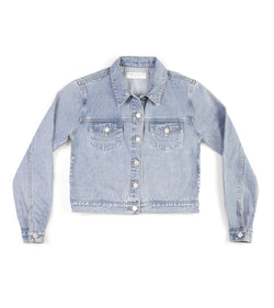 Method of Denim Womens Jackets Cut her off Jacket - Light Blue (1328102441046)