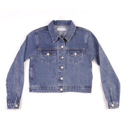 Method of Denim Womens Jackets Cut her off Jacket - Vintage Blue