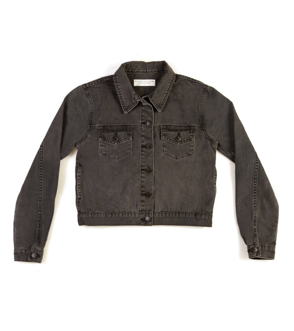 Method of Denim Womens Jackets Cut her off Jacket - Washed Black (1378459910230)