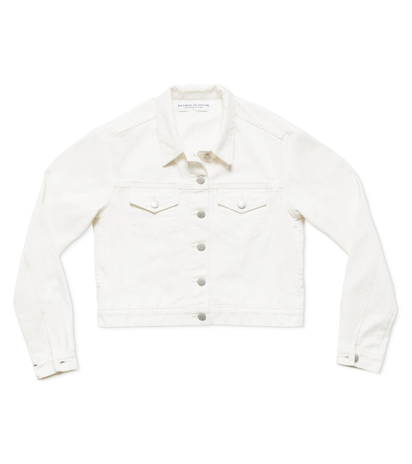 Method of Denim Womens Jackets Cut her off Jacket - White (1984859766870)