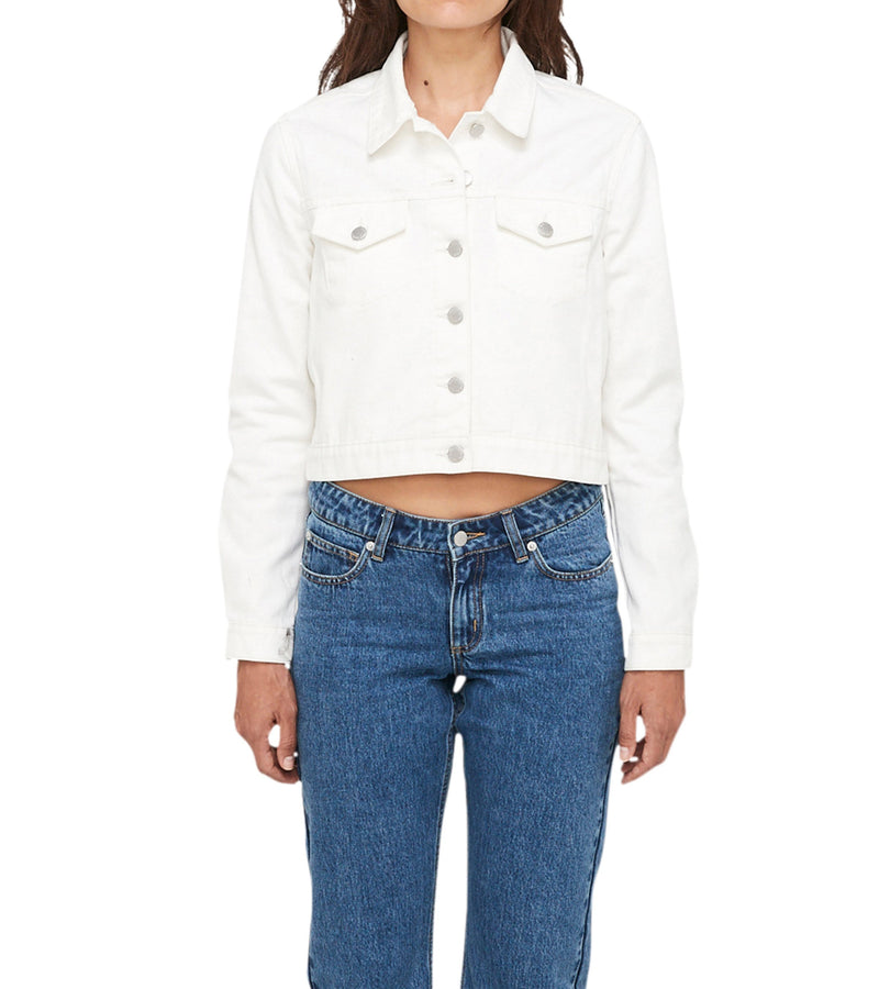 Method of Denim Womens Jackets Cut her off Jacket - White