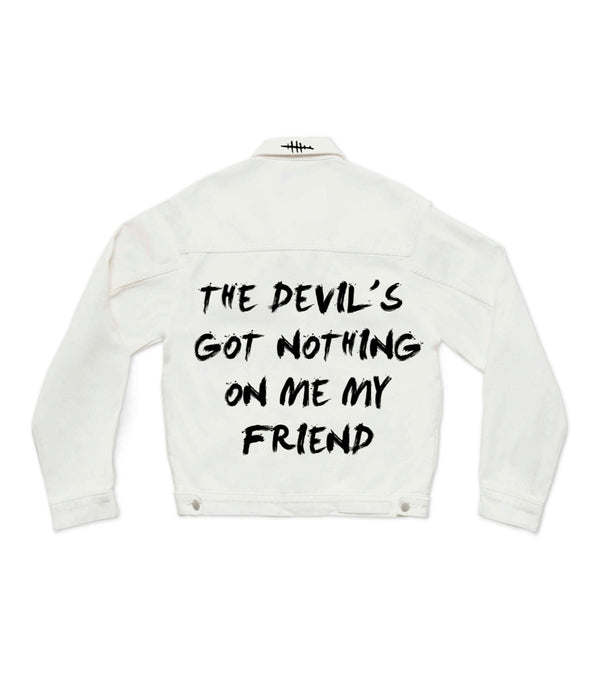 Method of Denim Womens Jackets Devils Got Nothing - Denim Jacket
