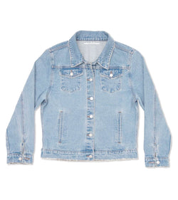 Method of Denim Womens Jackets Double Up Vintage Denim Jacket - Light Blue (4000634437718)