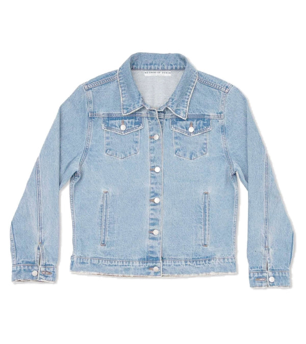 Method of Denim Womens Jackets Double Up Vintage Denim Jacket - Light Blue