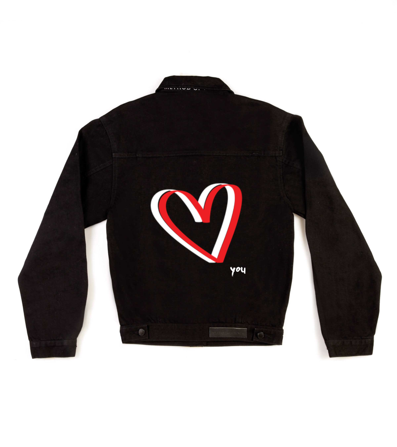Method of Denim Womens Jackets 'Heart You' Denim Jacket (4516075143254)