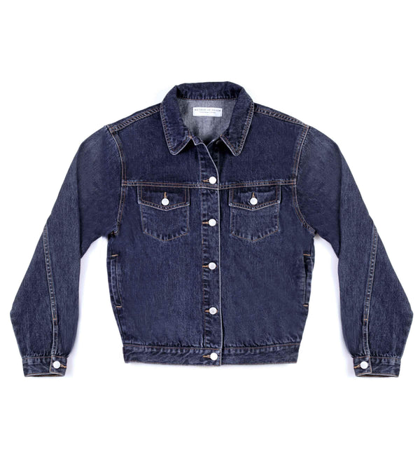 Method of Denim Womens Jackets J Bomb Vintage Jacket - Indigo Blue